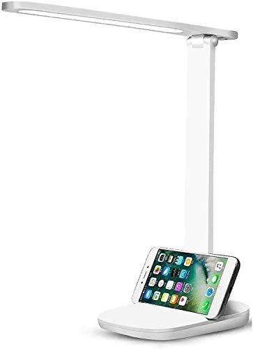 Lámpara de Escritorio LED, Lámparas de Mesa USB Recargable Cuidado a Ojos Desk Lamp 3 Modos de Brillo Regulable Para Leer Lámpara Escritorio LED para Estudio, Oficina