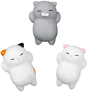 Party Propz Kawaii Slow Rising Squishy Squeezen Mini Cat Fidget Toy (Set of 3)