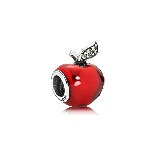 Pandora 925 plata esterlina joyería de bricolaje cuentas Charmpendant cuentas de manzana roja ajuste de europa pulsera fabricación de joyas regalo de cumpleaños para mujeres colgante imperdible