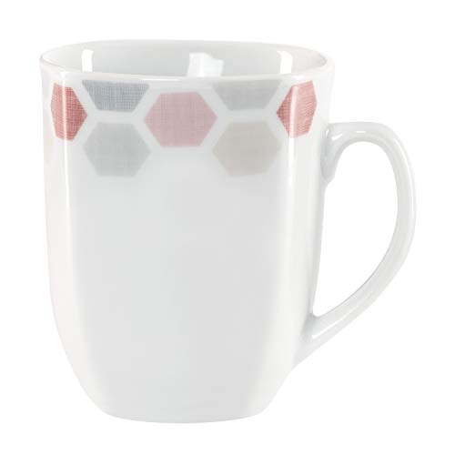 Van Well koffiemok Arte 300-350 ml jumbo-beker koffiemok thee-pot warme dranken in XL-formaat feestelijk decor edel hotel-porselein tafelservies