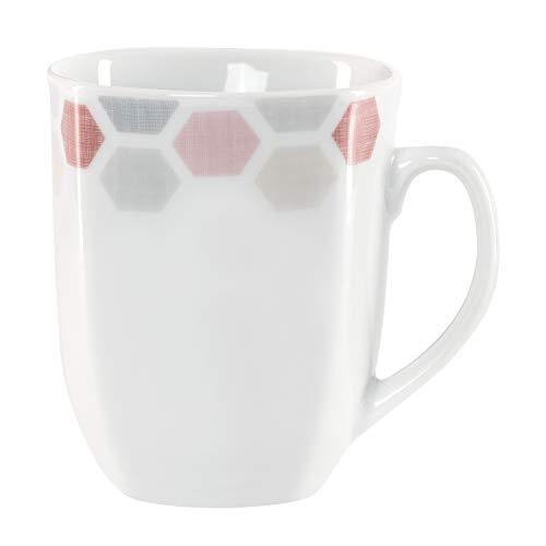 Van Well koffiemok Arte 300-350 ml jumbo-beker koffiemok thee-pot warme dranken in XL-formaat feestelijk decor edel hotel-porselein tafelservies