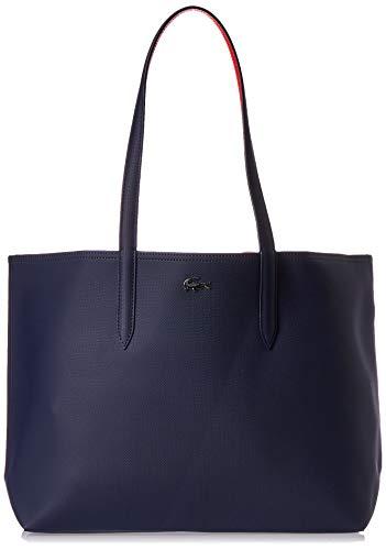 Lacoste NF2142AA Anna Sac porte epaule Femme, Bleu (Peacoat Salsa), 14x30x35 cm (W x H x L)