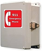 Outdoor Emergency Phone - 911 Only Emergency Land Line Phone System - Weatherproof Call Box photo