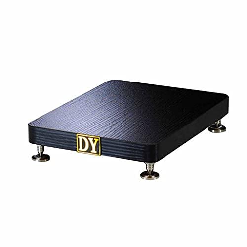 Soportes de Sonido subwoofer Bandeja Placa Base Escritorio Amortiguador Audio trípode Sala de Estar gabinete de CD gabinete Tridimensional Envolvente (Color : Black, Size : 29 * 34cm)