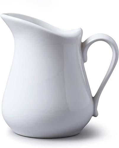 Glow Traditional Gravy Jug – Elegant White 250ml Ceramic Serving Jug for Cream Custard Sauces – Perfect for Dining Table Restaurant Café Christmas Wedding Roast Dinners – Dishwasher Microwave Safe