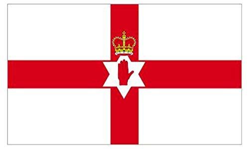 Bandera de Irlanda del Norte 5 pies x 3 pies Abanicos Bandera Decoración Grande Bandera Calle Casa Pubs Clubes Escuelas