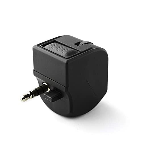 NewIncorrupt Ps4 VR Auricular Adaptador para Auriculares Control de Volumen Sonidos de Chat y Juegos (Negro)