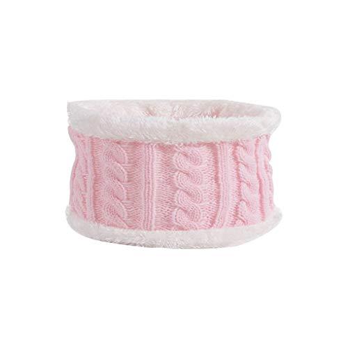 Niño de punto Beanie sombrero de invierno de la gorrita tejida de punto para conservar el calor respirable Niño Niña casquillo de la bufanda determinados del cabrito accesorios principales, Rosa