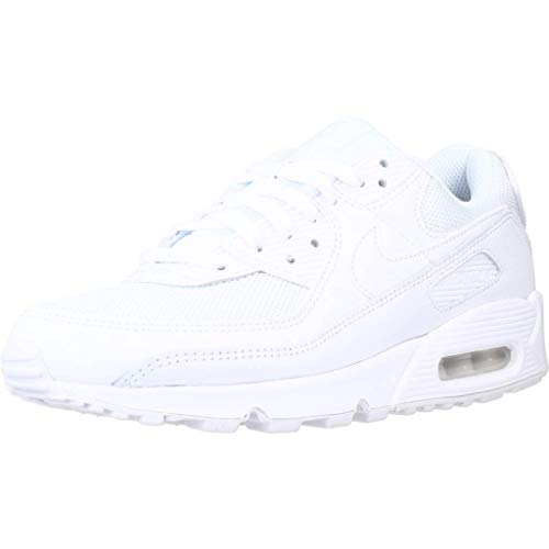 Nike Damen AIR MAX 90 Women's Shoe Laufschuh, White White White Wolf Grey, 37.5 EU