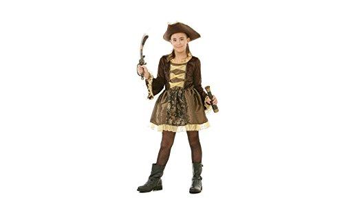 Topwell- Bambina Costume Pirata 8+, Multicolore, 375595