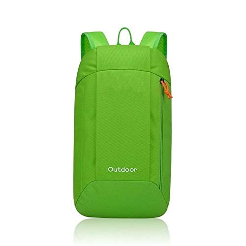 ZhiTianGroup 10L Waterproof Ultralight Outdoor Bags,7Colors Side Zipper Hiking Mountaineering Backpack,Unisex Storage Sports  (Color : Green, Size : A)