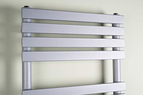Warmehaus Designer Handtuchheizkörper Badheizkörper 1200x500mm Silber