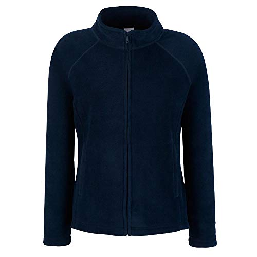 Fruit of the Loom - Lady -Fit Fleece Jacket M,Deep Navy