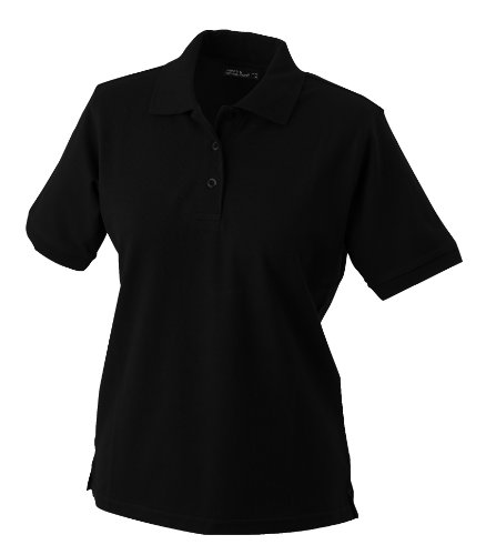 James & Nicholson Damen Ladies' Polo Poloshirt, Schwarz (schwarz Black), Large