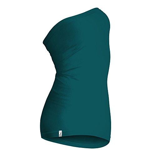 Kidneykaren Mid- Tube Multifunktion Schlauch als Nierenwärmer, Unterkleid, Top und Rock Dark Petrol (grün), Größe:S