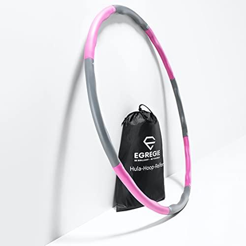 Egregie Fitness Reifen zum Abnehmen - 8 Segmente - Stabiler Hula Hoop Reifen Erwachsene
