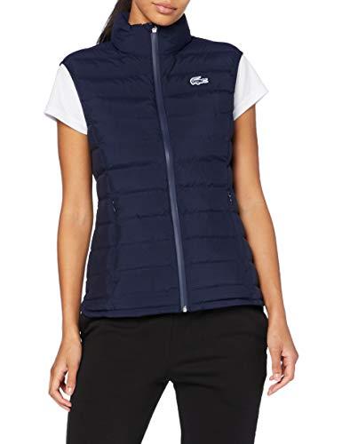 Lacoste Sport Bf2601 Abrigo de Vestir, Azul Marino, 38 para Mujer