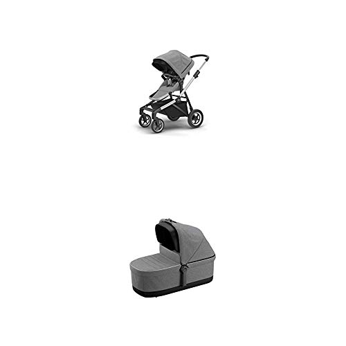 Find Cheap Thule Sleek City Stroller, Grey Melange with Thule Sleek Bassinet, Grey Melange
