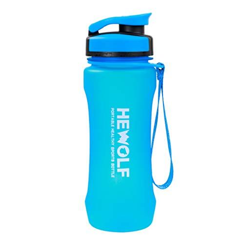 Botella de agua deportiva de 600 ml Botella tritan para niños/adultos a prueba de fugas, portátil ecológico, cubierta superior de concha, emergente de un toque reutilizable-B