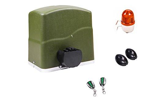 TOPENS RK700 - Abridor automático de puerta corredera para puerta de hasta 700 kg, motor operador de puerta, fotocélula e intermitente incluidos