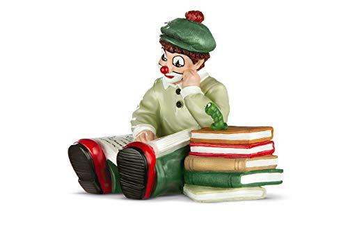 Gildeclown Bücherwurm - Dekofigur und Sammlerstück handefertigt H 10 cm