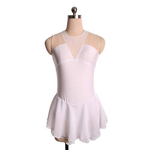 Figuur Schaatsen Suit, Kids Meisjes Gymnastiek Prestatie Kleding Mouwloos Jumpsuit Strass Bodice Romper Bodysuit