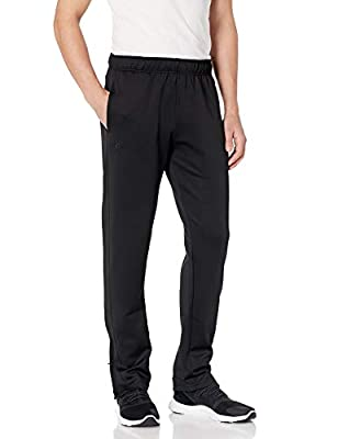 Starter Men's Loose-Fit Track Pants, Amazon Exclusive, Black, Small