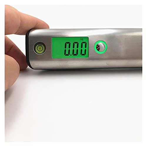 CML Bilancia per Bagagli 50kg / 110 libbre con Il Livello di Bolla a Mano e Misura del Nastro per la Scala del Peso del Bagaglio del saldo elettronico dei viaggiatori (Color : Green Backlit)