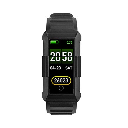 Lbyhning Fitnessarmband, fitnesstracker bluetooth horloges sport smart armband hartslagmeter stappenteller bellen kleurendisplay waterdichte camouflage armband zwart