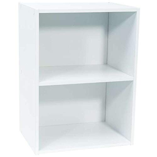 WerkaPro 9669 - Meuble de rangement - 54 x 40 x 29 cm - Blanc - 2 niches - Livré en Kit