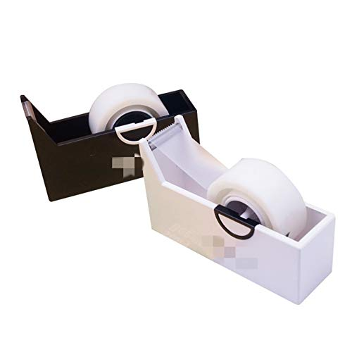 Dispensador de cinta Creativo cuadrado de plástico cinta asiento asiento asiento oficina asiento asiento de escritorio cortador de cinta de escritorio suministros Adecuado para cinta (Color : Black)