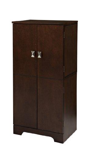 """Linon Home Dcor Linon Victoria, Espresso Jewelry Armoire, 40"""" x 19"""" x 13"""","""
