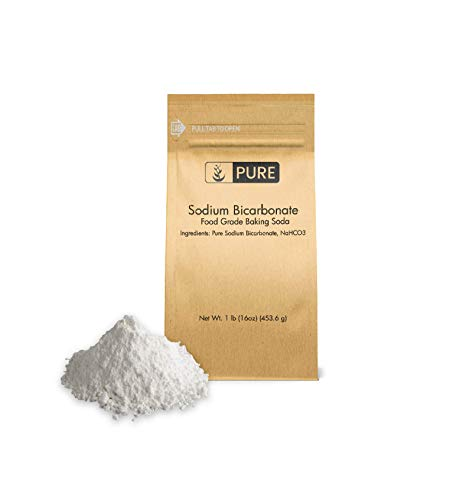 Pure Sodium Bicarbonate (Baking Soda) (1 lb.), Eco-Friendly Packaging, Highest Purity, Food Grade
