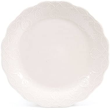 The Pioneer Woman Cowgirl Lace Red 12-Piece Dinnerware Set, Microwave and Dishwasher Safe (linen)