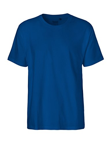 Green Cat Herren T-Shirt, 100{cb4b580eab887b8d83978ae7d7a201ab733262d3bef7b0a91682eb332dcc995a} Bio-Baumwolle. Fairtrade, Oeko-Tex und Ecolabel Zertifiziert, Textilfarbe: blau, Gr.: L