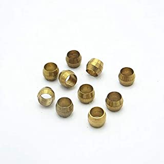 Maslin 10PCS 3//4//5//6//6.35//8//10//12//14//16mm ID Brass Fit Compression Sleeve Fitting Sleeve Ferrule Ring Size: 4mm