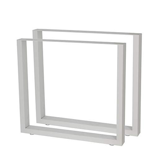 Zelsius Patas de mesa, estructura de mesa, 2 unidades, cuchillas de metal, acero en bruto, gris o gris claro, diferentes tamaños, industrial
