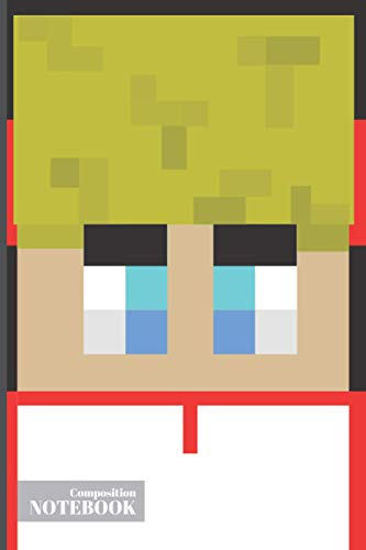 Composition Notebook: Tommyinit Notebook | Dream SMP | Minecraft | Lmanburg | Tommyinit Face Skin with Headset Cover | Wide Ruled Composition Notebook 6