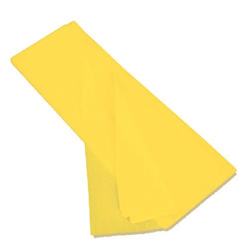 kgpack Seidenpapier 20 Blatt - Basteln Gestalten Dekorieren Tissue Papier zum Pompons Papierblumen Skizzen und Zuschnitt-Papier dünnes Papier Geschenkpapier 50 x 70 cm 17 g/qm, 20 Blatt (Gelb)