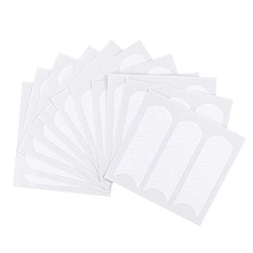 VOARGE 12 PCS Französisch Nagel Aufkleber Weiß Maniküre Nagel Schablonen Kunst Dekorationen für Maniküre Dekoration DIY Werkzeuge