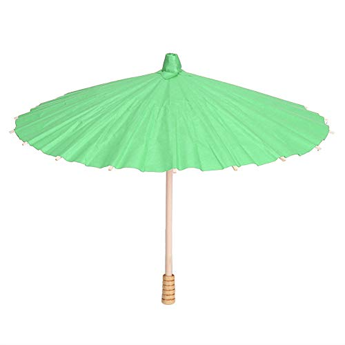 DaMohony DIY Papier Paraplu, Wit Blank Papier Paraplu Kleurrijke Olie Papier Paraplu voor Kinderen Schilderen Ambacht Groen