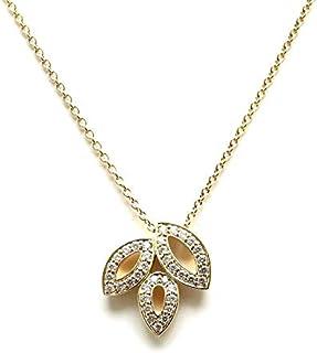 [ハリー ウィンストン] HARRY WINSTON リリークラスター ミニ ネックレス K18 イエローゴールド YG ダイヤモンド ダイヤ D0.19ct
