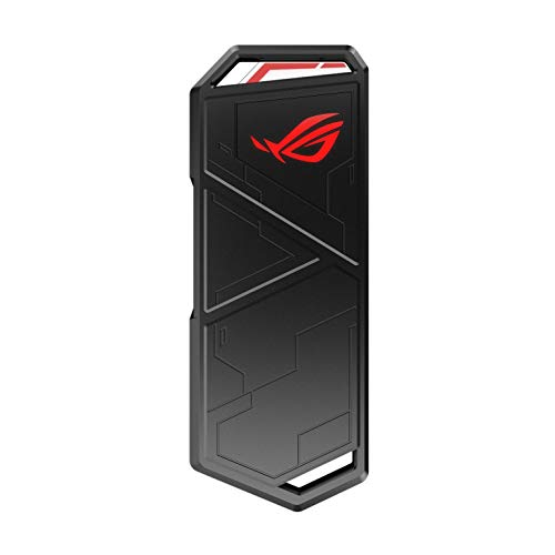 ASUS ROG Strix Arion M.2 NVMe SSD Enclosure-USB3.2 GEN2 Type-C (10 Gbps), Dual USB-C to C and USB-C to A Cables, Screwdriver-Free, Thermal Pads Included, Fits PCIe 2280/2260/2242/2230 M Key/B+M Key