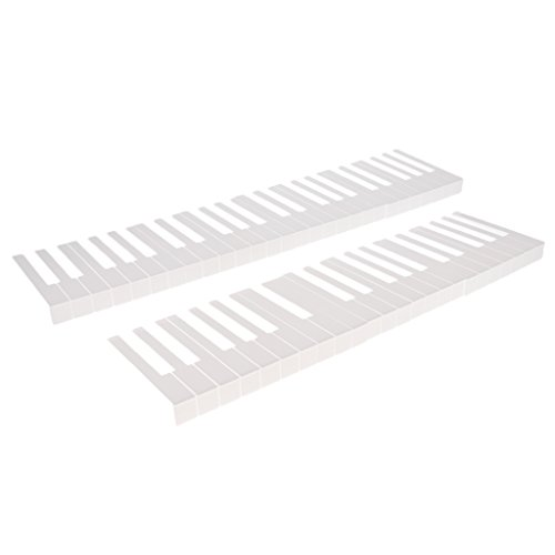 Best Prices! 1 Set 52 Keys Piano Keyboard Replacement Keytops Kit