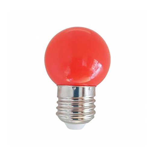 Silver Electronics Bombillas E27, 1 W, Rojo