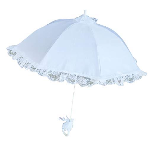 JHD Boda Nupcial Parasol Paraguas Encaje Hueco Blanco Accesorios para Fotos románticas...