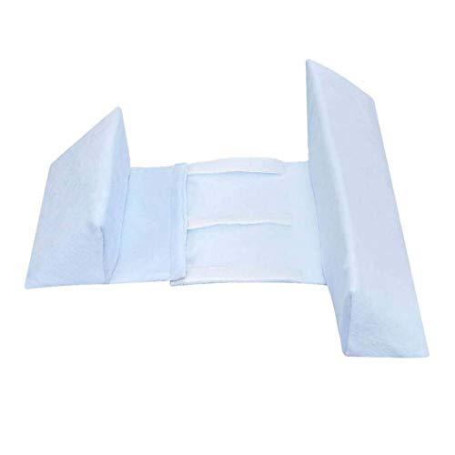 KAIWM Mise en Forme de bébé Styling Oreiller Anti-capotage latéral Couchage Coussin Triangle bébé Positionnement Oreiller,Bleu