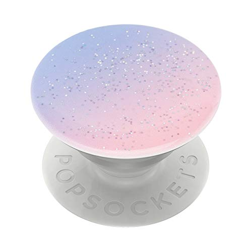 PopSockets PopGrip - Ausziehbarer Sockel und Griff für Smartphones und Tablets mit einem Austauschbarem Top - Glitter Morning Haze