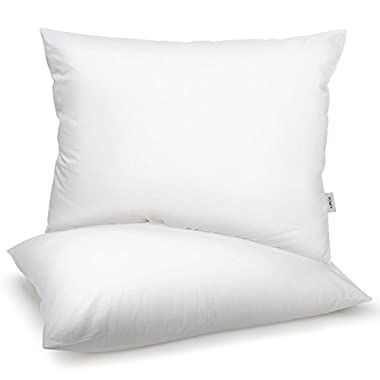 Homfy Premium Cotton Pillows for Sleeping, Bed Pillows Queen Set of 2 with Medium Softness, Hypoallergenic and Breathable