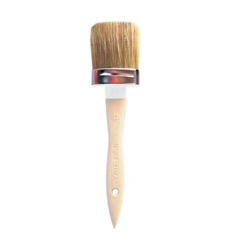 Pennello ovalino manico in legno N 2 setola bionda USO PROFESSIONALE